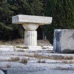 Christlicher Altar<br /> im Pronaos des Asklepios-Tempels